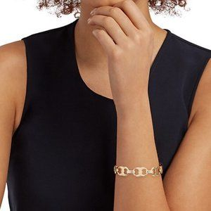 16K Gold Tory Burch Gemini Link Bracelet